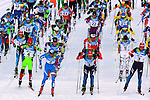 Athletes compete at the Men Skiathlon event as part of the Trentino 2013 Winter Universiade Italy on 12/12/2013 in Lago Di Tesero, Italy.<br /> <br /> &copy; Pierre Teyssot - www.pierreteyssot.com