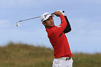 Soomin Lee (KOR) on the 2nd fairway during Round 1 of the Dubai Duty Free Irish Open at Ballyliffin Golf Club, Donegal on Thursday 5th July 2018.<br /> Picture:  Thos Caffrey / Golffile