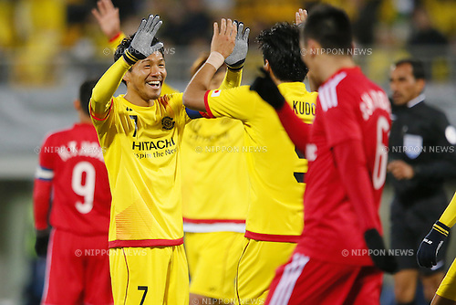 Hidekazu Otani (Reysol), March 3, 2015 - Football / Soccer : Hidekazu Otani of Reysol celebrates after scoring team's fifth goal against Binh Duong during the 2015 AFC Champions League Group E match between Kashiwa Reysol 5-1 Binh Duong at Hitachi Kashiwa Stadium in Chiba, Japan. (Photo by Yusuke Nakanishi/AFLO SPORT) [1090]