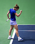 Simona Halep (ROU) during the final against Jelena Jankovic (SRB) at the BNP Parisbas Open in Indian Wells, CA on March 22, 2015.
