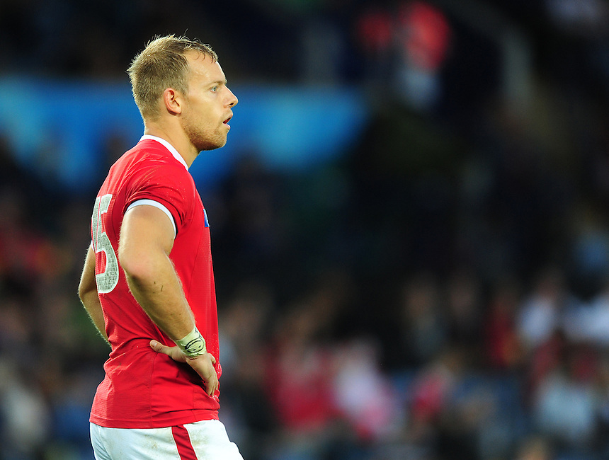 Canada's Harry Jones<br /> <br /> Photographer Chris Vaughan/CameraSport<br /> <br /> Rugby Union - 2015 Rugby World Cup Pool D - Canada v Romania - Tuesday 6th October 2015 - King Power Stadium, Leicester <br /> <br /> &copy; CameraSport - 43 Linden Ave. Countesthorpe. Leicester. England. LE8 5PG - Tel: +44 (0) 116 277 4147 - admin@camerasport.com - www.camerasport.com