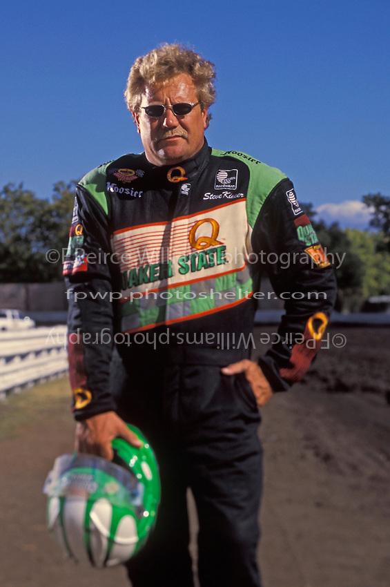 Sprint car driver Steve Kinser, Calistoga, CA USA September 2000