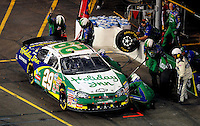 Apr 11, 2008; Avondale, AZ, USA; NASCAR Nationwide Series driver Jeff Burton pits during the Bashas Supermarkets 200 at the Phoenix International Raceway. Mandatory Credit: Mark J. Rebilas-