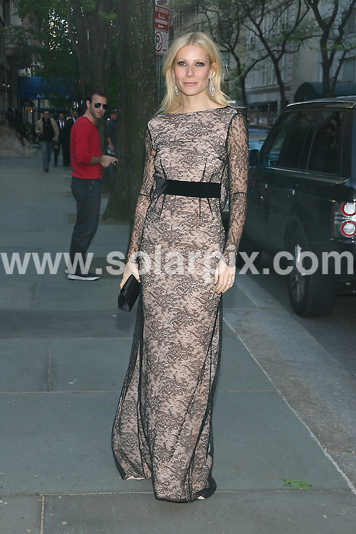 **ALL ROUND PICTURES FROM SOLARPIX.COM**.**SYNDICATION RIGHTS FOR UK, AUSTRALIA, DENMARK, PORTUGAL, S. AFRICA, SPAIN & DUBAI (U.A.E) & ASIA (EXCLUDING JAPAN) ONLY**.Chopard Celebrates 150 Years of Excellence - Arrivals.The Frick Collection, 1 East 70th Street, NY, USA, 29 April 2010.This pic: Gwyneth Paltrow.JOB REF: 11182    PHZ gaboury    DATE:  29_04_2010.**MUST CREDIT SOLARPIX.COM OR DOUBLE FEE WILL BE CHARGED**.**MUST NOTIFY SOLARPIX OF ONLINE USAGE**.**CALL US ON: +34 952 811 768 or LOW RATE FROM UK 0844 617 7637**