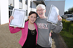 12/8/2015  Emily Blake, who received 425 points and Sean Campion, Castletroy, who received 400 Leaving Cert Points and 500 points for his art portfolio. Celerbate their leaving results at Catletroy College.<br /> Pic: Gareth Williams / Press 22