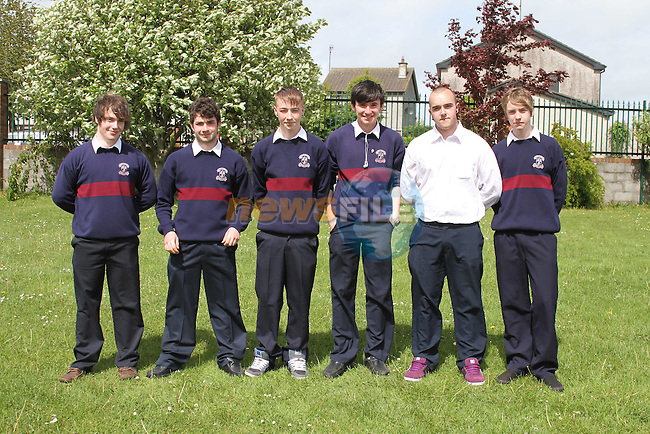 St.Mary's Students who are walking to Galway to raise money for SOSAD.  Andrew Smith, Alex Hibbitts, Keith Kavanagh, Cathal Brady, James Levins and Finn McCarthy...(Photo credit should read www.newsfile.ie)....This Picture has been sent you under the conditions enclosed by:.Newsfile Ltd..The Studio,.Millmount Abbey,.Drogheda,.Co Meath..Ireland..Tel: +353(0)41-9871240.Fax: +353(0)41-9871260.GSM: +353(0)86-2500958.email: pictures@newsfile.ie.www.newsfile.ie.