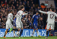 Goal scorer Adrien Rabiot  (25)of Paris Saint-Germain celebrates his goal with Maxwell (right) of Paris Saint-Germain during the UEFA Champions League Round of 16 2nd leg match between Chelsea and PSG at Stamford Bridge, London, England on 9 March 2016. Photo by Andy Rowland.