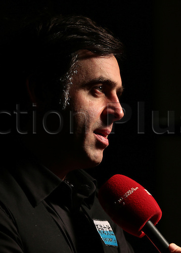 17.01.2016.  Alexandra Palace, London, England. Masters Snooker. Finals. Ronnie O'Sullivan wins The dafabet Masters Snooker and reflects during a post match interview