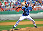 15 March 2008: Washington Nationals' pitcher Eude Brito on the mound during a Spring Training game against the Los Angeles Dodgers at Space Coast Stadium, in Viera, Florida...Mandatory Photo Credit: Ed Wolfstein Photo