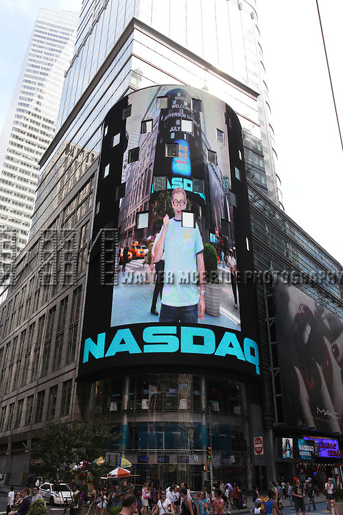 Jefferson Turner from the Off-Broadway Smash Hit 'Potted Potter' ring the closing bell at NASDAQ in Times Square, New York City on 7/5/2012