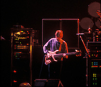 Phil Lesh of The Grateful Dead Live at the Knickerbocker Arena, Albany NY, 24 March 1990. View from the Lighting Booth, Dead Center, Floor.