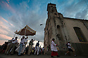 25/02/16 <br /> <br /> Evening Mass is performed outside Iglesia de Guadalupe, Granada, Nicaragua.<br /> <br /> All Rights Reserved: F Stop Press Ltd. +44(0)1335 418365   +44 (0)7765 242650 www.fstoppress.com