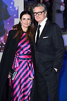 LONDON, UK. December 12, 2018: Livia Firth &amp; Colin Firth at the UK premiere of &quot;Mary Poppins Returns&quot; at the Royal Albert Hall, London.<br /> Picture: Steve Vas/Featureflash