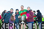 Maurice King, Ashling Cooke, Marion Cooke, Jeremy King, Bridget Breen  at the Bernard O'Callaghan Memorial Senior Football Championship final last Saturday Beale V Listowel Emmets