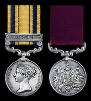 BNPS.co.uk (01202 558833)<br /> Pic:   Spink&Son/BNPS<br /> <br /> The bravery medals awarded to one of the heroes of Rorke's Drift have emerged for sale for £50,000.<br /> <br /> Gunner Arthur Howard was part of the 150-strong British garrison which defied all odds to successfully defend the Rorke's Drift mission station from 4,000 marauding Zulu warriors in 1879.<br /> <br /> For 12 hours the British repelled the spear-carrying tribesmen with accurate shooting and brutal hand-to-hand combat. The Zulus retreated with 350 of their number killed compared to 17 British.<br /> <br /> The rearguard was immortalised in the epic 1964 war film Zulu, starring Stanley Baker and a young Michael Caine.