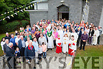 Bishop Ray Browne with the congregation at Aghatubrid Church which celebrated its 60th anniversary on Sunday.