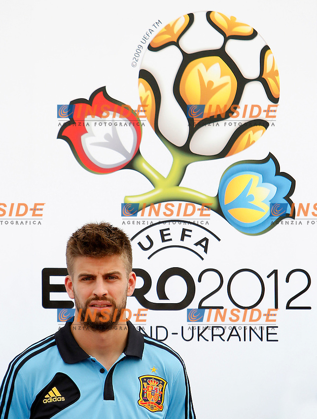 Spanish national football team Gerard Pique during training session.June 1,2012.(Insidefoto / ACero / Alterphotos )