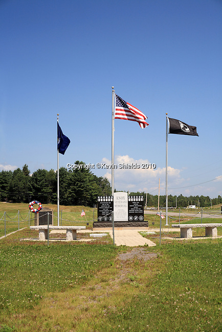 Veteran's Memorial, Knox, Maine, USA, Walso County