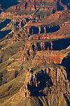 Canyon Detail along the South Rim, Grand Canyon National Park, Arizona