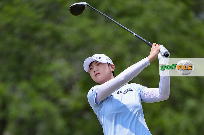 Sung Hyun Park (KOR) watches her tee shot on 2 during round 2 of the 2019 US Women's Open, Charleston Country Club, Charleston, South Carolina,  USA. 5/31/2019.<br /> Picture: Golffile | Ken Murray<br /> <br /> All photo usage must carry mandatory copyright credit (© Golffile | Ken Murray)