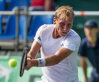 Moscow, Russia, 15 th July, 2016, Tennis,  Davis Cup Russia-Netherlands, Second rubber: Thiemo de Bakker (NED) <br /> Photo: Henk Koster/tennisimages.com