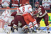 John Muse (BC - 1), Cam Atkinson (BC - 13), Ben Rosen (BU - 8), Chris Kreider (BC - 19) - The visiting Boston College Eagles defeated the Boston University Terriers 3-2 to sweep their Hockey East series on Friday, January 21, 2011, at Agganis Arena in Boston, Massachusetts.