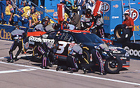 Dale Earnhardt makes a pit stop en route to the final victory of his career, Winston 500, Talladega Superspeedwaym, Talladega, AL, October 15, 2000.  (Photo by Brian Cleary/www.bcpix.com)