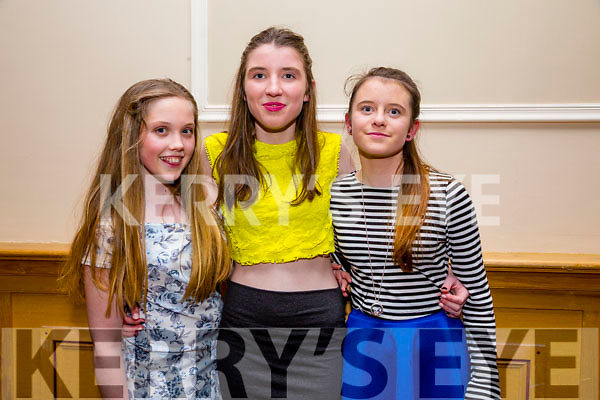 Enjoying the Kerry Youth Club Disco at the Brandon Hotel on Friday were Emma Faley, Dervla Cronin, Meabh Nolan, St Senan's Youth Club