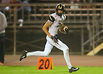 Inglewood, CA 10/09/14 - Jason Burr (Peninsula #7) in action during the Palos Verdes Peninsula vs Morningside CIF Varsity football game at Coleman Field in Inglewood.  Peninsula defeated Morningside 24-13.