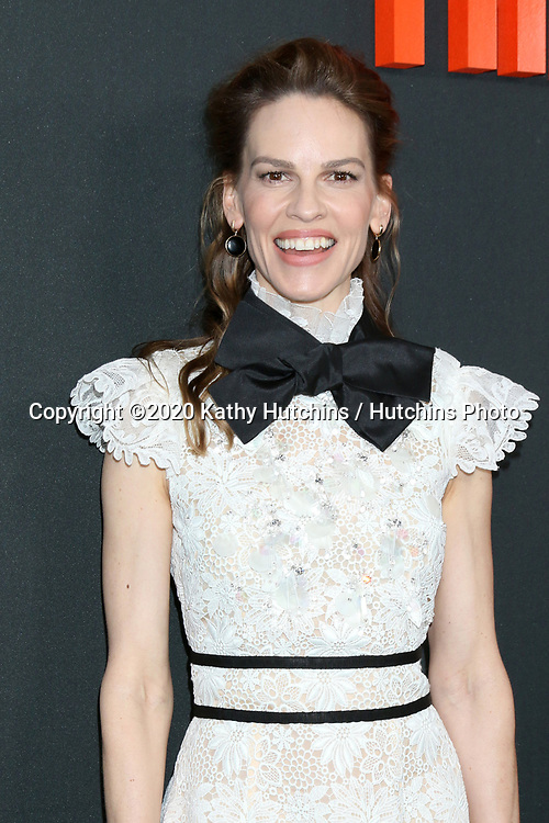 "LOS ANGELES - MAR 9:  Hilary Swank at the ""The Hunt"" Premiere at the ArcLight Hollywood on March 9, 2020 in Los Angeles, CA"