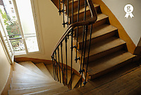 Wooden stairs in traditional parisian building (Licence this image exclusively with Getty: http://www.gettyimages.com/detail/93187603 )