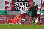 30.11.2019, RheinEnergieStadion, Koeln, GER, 1. FBL, 1.FC Koeln vs. FC Augsburg,<br />  <br /> DFL regulations prohibit any use of photographs as image sequences and/or quasi-video<br /> <br /> im Bild / picture shows: <br /> Timo Horn Torwart (FC Koeln #1),  haelt den 11 Meter von André Hahn (FC Augsburg #28),  <br /> <br /> Foto © nordphoto / Meuter