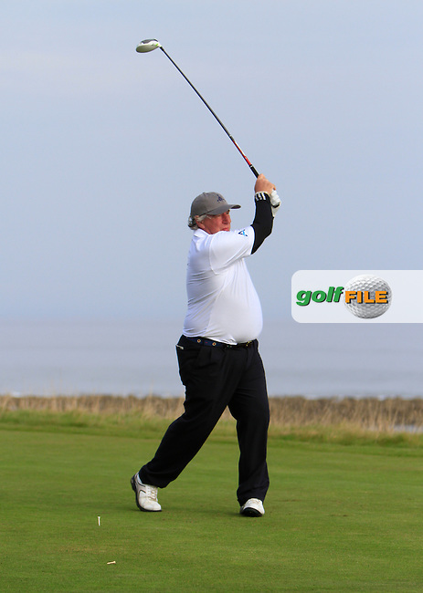 Martin Gilbert during Round 2 of the Alfred Dunhill Links Championship at Kingsbarns Golf Club on Friday 27th September 2013.<br /> Picture:  Thos Caffrey / www.golffile.ie