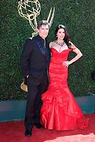 PASADENA - APR 30: Vincent Irazarry, Donna Petracca at the 44th Daytime Emmy Awards at the Pasadena Civic Center on April 30, 2017 in Pasadena, California