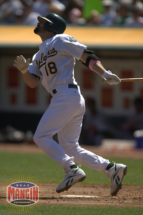 Jason Kendall. Baseball: Baltimore Orioles vs Oakland Athletics at McAfee Coliseum in Oakland, CA on September 2, 2006. Photo by Brad Mangin