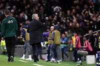 Tottenham Hotspur manager Jose Mourinho celebrates his teams second goal during Tottenham Hotspur vs Olympiacos FC, UEFA Champions League Football at Tottenham Hotspur Stadium on 26th November 2019
