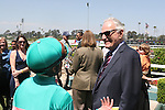 27 June 2009: Mike Smith and Jerry Moss after Zenyatta wins the Vanity Handicap (GI) at Hollywood Park in Inglewood, CA