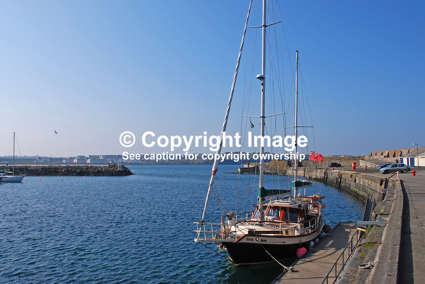 Yacht, Carrick Spray, tied up at the harbour, Portrush, Co Antrim, N Ireland, UK, 200904192096..Copyright Image from Victor Patterson, 54 Dorchester Park, Belfast, UK, BT9 6RJ..Tel: +44 28 9066 1296.Mob: +44 7802 353836.Voicemail +44 20 8816 7153.Skype: victorpattersonbelfast.Email: victorpatterson@mac.com.Email: victorpatterson@ireland.com (back-up)..IMPORTANT: If you wish to use this image or any other of my images please go to www.victorpatterson.com and click on the Terms & Conditions. Then contact me by email or phone with the reference number(s) of the image(s) concerned.