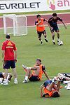 MADRID (25/05/09).- The Spanish Soccer national training session.  Sergio Ramos...PHOTO: Cesar Cebolla / ALFAQUI