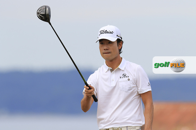 Kevin NA (USA) on the 18th tee during Thursday's Round 1 of the 2015 U.S. Open 115th National Championship held at Chambers Bay, Seattle, Washington, USA. 6/18/2015.<br /> Picture: Golffile | Eoin Clarke<br /> <br /> <br /> <br /> <br /> All photo usage must carry mandatory copyright credit (&copy; Golffile | Eoin Clarke)
