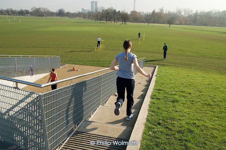Circuit training at The Hub, Regents Park, London
