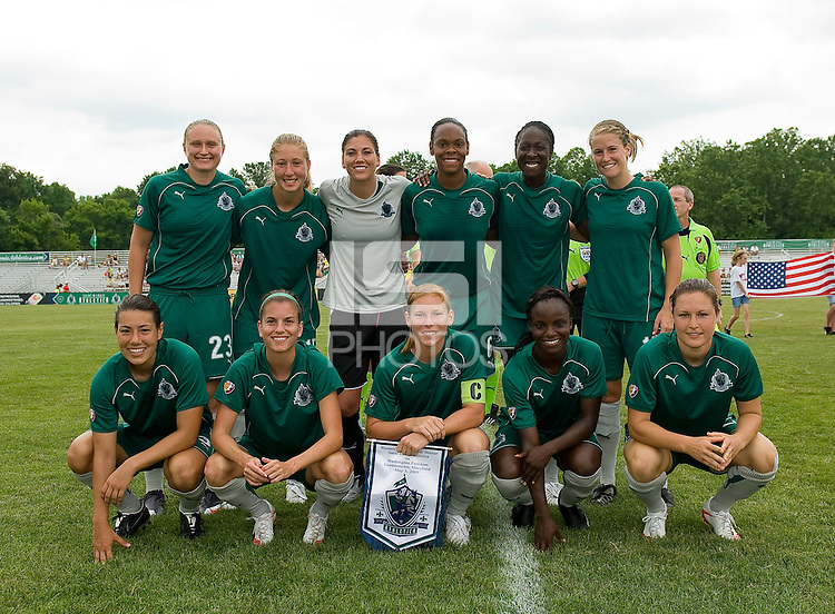 St. Louis Athletica Starting Eleven before a WPS match at Anheuser-Busch Soccer Park, in Fenton, MO, June 20 2009.