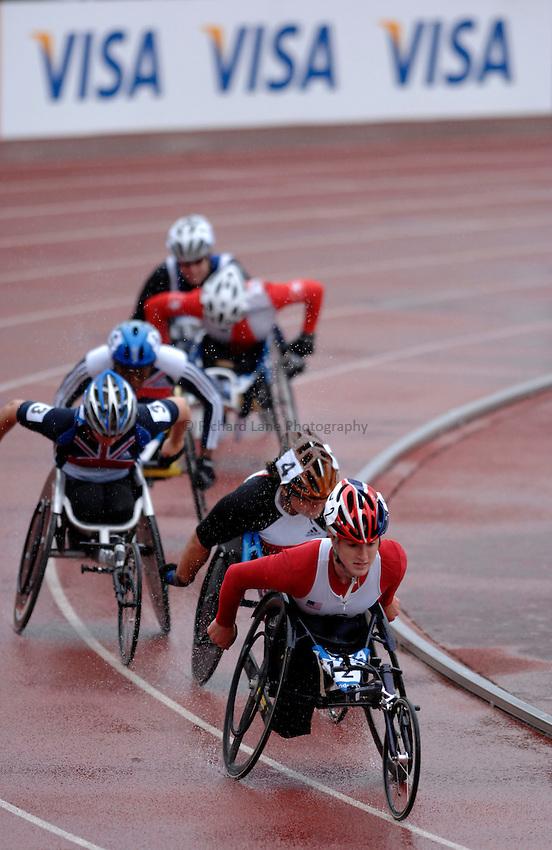 Photo: Richard Lane..VISA Paralympic World Cup 2007. Athletics. 13/05/2007. .Tatyana McFadden of USA leads the women's T54 800m.