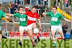 Tomás Ó Súilleabháin Dingle in action against Phillip O'Connor St Kieran's in the Kerry Senior Football Championship at Austin Stack Park on Saturday.