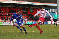Jonathan Smith of Stevenage with a shot during Stevenage vs Crewe Alexandra, Sky Bet EFL League 2 Football at the Lamex Stadium on 10th March 2018