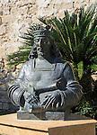 Bust statue of King Alfonso the Wise, Castillo de San Marcos, Puerto de Santa Maria, Cadiz province, Spain