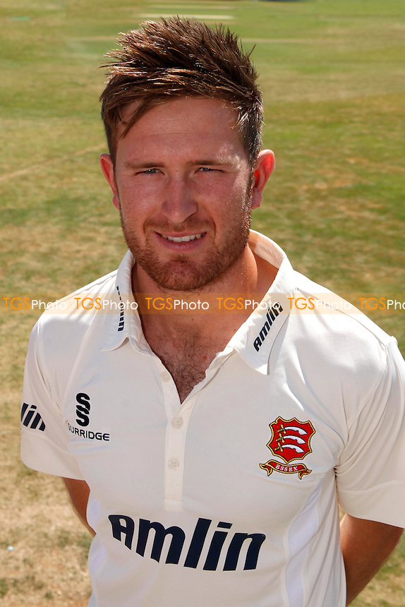 New Essex CCC signing Liam Dawson poses for a photo- Essex CCC vs Australia - Tourist Match ahead of the 2015 Ashes Series at the Essex County Ground, Chelmsford, Essex - 03/07/15 - MANDATORY CREDIT: Nick Wood/TGSPHOTO