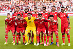 Player of Oman line up and pose for photos prior to the AFC Asian Cup UAE 2019 Group F match between Oman (OMA) and Japan (JPN) at Zayed Sports City Stadium on 13 January 2019 in Abu Dhabi, United Arab Emirates. Photo by Marcio Rodrigo Machado / Power Sport Images
