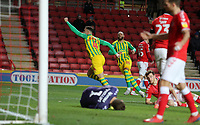 second goal scored for West Bromwich Albion by Hal Robson-Kanu of West Bromwich Albion as he celebrates during Charlton Athletic vs West Bromwich Albion, Sky Bet EFL Championship Football at The Valley on 11th January 2020