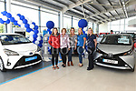 Hannah, Stella and Ruth Malone, Louise McLoughlin and Donna Lambe Malones Toyota. Photo:Colin Bell/pressphotos.ie